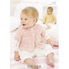 Babies and Childrens Cardigans in Snuggly Tiny Tots Dk (1212)
