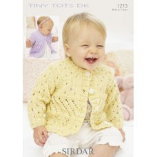Babies and Childrens Cardigans in Snuggly Tiny Tots Dk (1213)