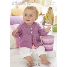 Babies and Childrens Cardigans in Snuggly Baby Bamboo Dk (1219)