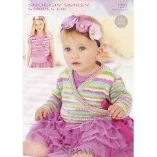 Babies Cardigans & Jackets in Snuggly Smiley Stripes Dk (1221)