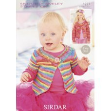Babies Cardigans & Jackets in Snuggly Smiley Stripes Dk (1227)