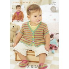 Babies Cardigans in Snuggly Dk 50g (1241)