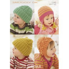 Babies Hats in Snuggly Dk 50g (1242)