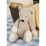 Ted The Bear in Snuggly Snowflake Dk (1245)