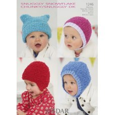 Babies Hats Bootees Mitts & Layettes in Snuggly Snowflake Chunky (1246)