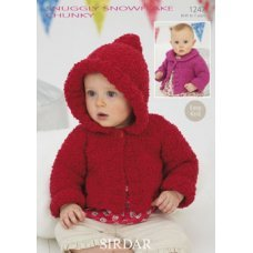 Babies Coats in Snuggly Snowflake Chunky (1247)
