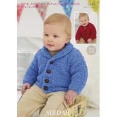 Babies Cardigans & Jackets in Snuggly Snowflake Chunky (1249)