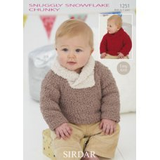 Babies Sweaters in Snuggly Snowflake Chunky (1251)