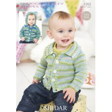 Babies Cardigans & Jackets in Snuggly Smiley Stripes Dk (1262)