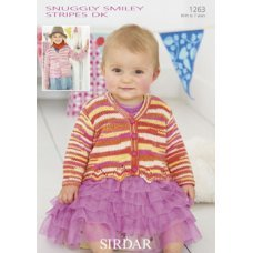 Babies Cardigans & Jackets in Snuggly Smiley Stripes Dk (1263)