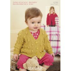 Babies Cardigans & Jackets in Snuggly Baby Bamboo Dk (1270)