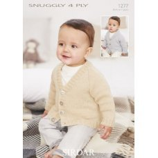 Babies Cardigans & Jackets in Snuggly 4 Ply 50g (1277)