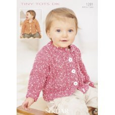 Babies Cardigans in Snuggly Tiny Tots Dk (1281)