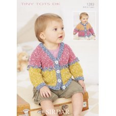 Babies Cardigans in Snuggly Tiny Tots Dk (1283)
