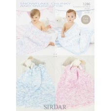 Babies Blankets in Snuggly Snowflake Chunky (1286)