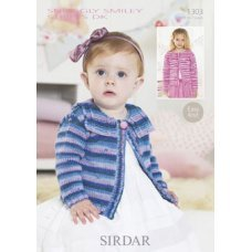 Babies Cardigans & Jackets in Snuggly Smiley Stripes Dk (1303)