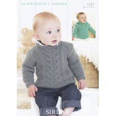 Babies Sweaters in Supersoft Aran (1337)