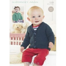 Babies Cardigans in Supersoft Aran (1339)