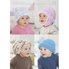 Babies Hats Bootees Mitts & Layettes in Snuggly Snowflake Chunky (1352)