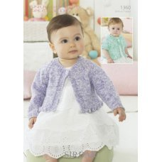 Babies Cardigans & Jackets in Snuggly Baby Speckle DK (1360)