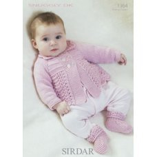 Babies Cardigan & Bootees in Snuggly DK (1364)
