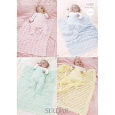 Babies Crochet Shawl & Blankets in Snuggly 4 Ply (1368)