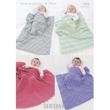 Babies Shawl & Blankets in Snuggly 4 Ply 50g (1369)