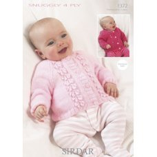 Babies Cardigans & Jackets in Snuggly 4 Ply 50g (1372)