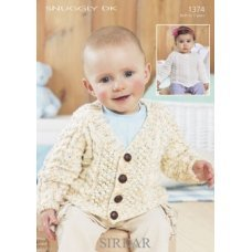 Babies Cardigans & Jackets in Snuggly Dk 50g (1374)