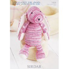 Sirdar Toy Bunny in Snuggly DK and Snuggly Baby Crofter DK (1456)