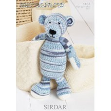 Sirdar Toy Bear in Snuggly DK and Snuggly Baby Crofter DK (1457)