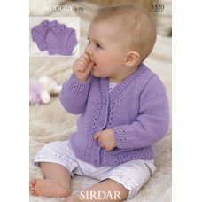Babies Cardigans & Jackets in Snuggly 4 Ply 50g (1520)