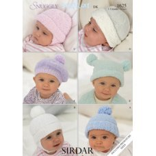 Babies Hats Bootees Mitts & Layettes in Snuggly Dk 50g (1625)