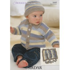 Babies Hats Bootees Mitts & Layettes in Snuggly Dk 50g (1645)