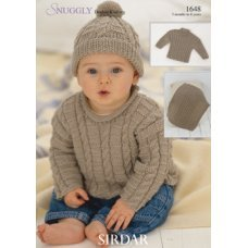 Babies Sweaters, Hat and Blanket in Snuggly Dk 50g (1648)