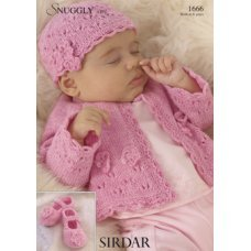 Babies Cardigans & Jackets in Snuggly 4 Ply 50g (1666)