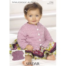 Babies Cardigans & Jackets in Snuggly 4 Ply 50g (1741)