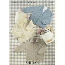 Babies Cardigans & Jackets in Snuggly Dk 50g (1749)