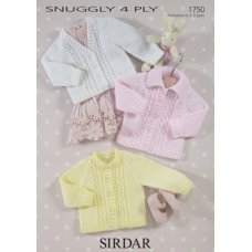Babies Cardigans & Jackets in Snuggly 4 Ply 50g (1750)