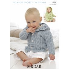 Babies Cardigans & Jackets in Supersoft Aran (1759)