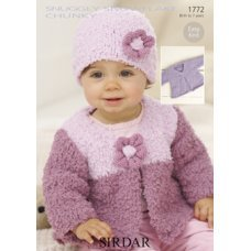 Babies Hats Bootees Mitts & Layettes in Snuggly Snowflake Chunky (1772)