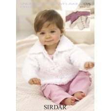 Babies Cardigans & Jackets in Snuggly Snowflake Chunky (1775)