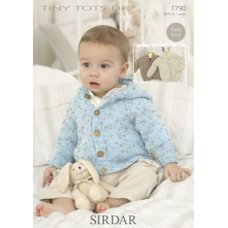 Babies Cardigans & Jackets in Snuggly Tiny Tots Dk (1790)