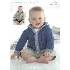 Babies Cardigans & Jackets in Snuggly Dk 50g (1813)