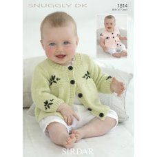 Babies Cardigans & Jackets in Snuggly Dk 50g (1814)