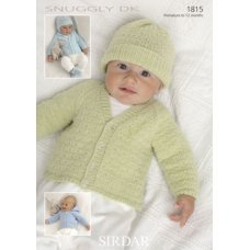 Babies Cardigans in Snuggly Dk 50g (1815)