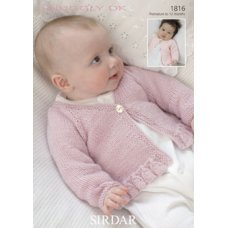 Babies Cardigans in Snuggly Dk 50g (1816)