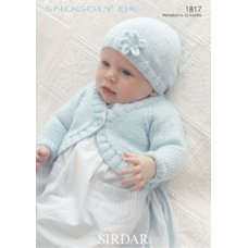 Babies Cardigan and Hat in Snuggly Dk 50g (1817)