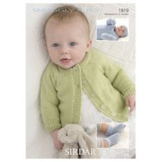 Babies Cardigans & Jackets in Snuggly 4 Ply 50g (1819)