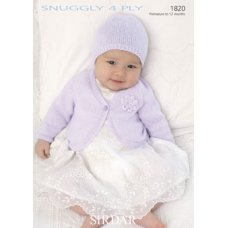 Babies Cardigans & Jackets in Snuggly 4 Ply 50g (1820)